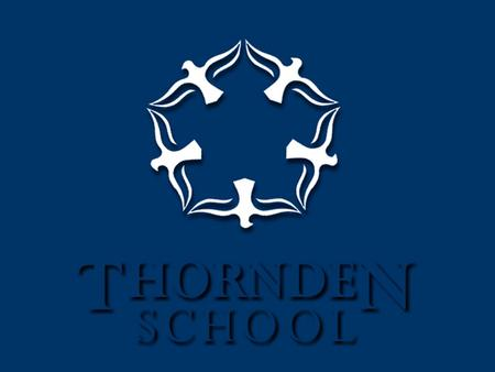 Thornden School An 11-16, mixed comprehensive school, with 1400 pupils on roll A specialist Arts College Science - second specialism Leading Edge status.