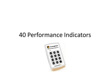 40 Performance Indicators. I: Teaching for Learning ST 1: Curriculum BE A: Aligned, Reviewed and Monitored.