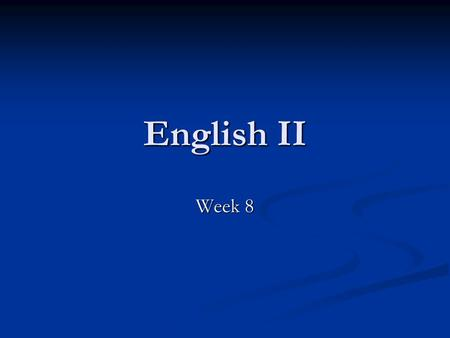 "English II Week 8. Monday, 3/2 OBJECTIVES: DOL—Vocab. #2 DOL—Vocab. #2 ""Babylon"" ""Babylon"" Review Worksheet Review Worksheet Quiz Quiz VIDEO VIDEO I AM."