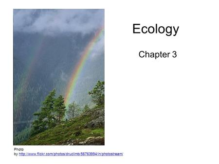 Ecology Chapter 3 Photo by