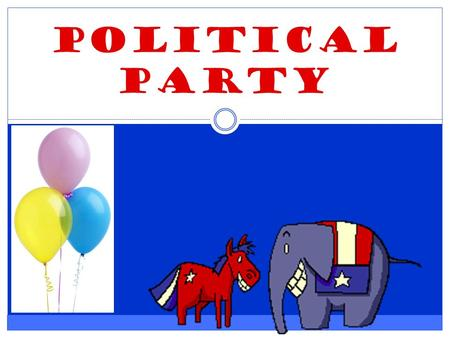 POLITICAL Party. What comes to mind when you see: DEMOCRAT Write down the first three words that come to mind.