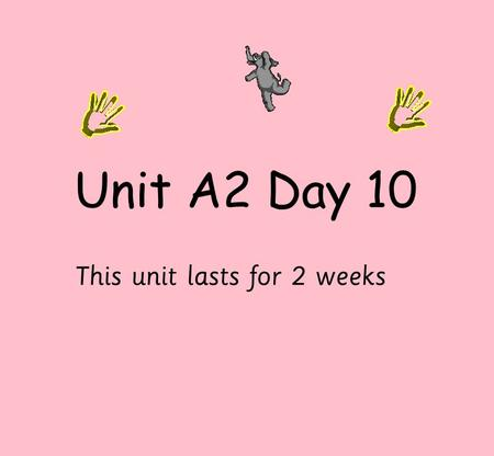 Unit A2 Day 10 This unit lasts for 2 weeks. Practice material including multiplying by doubling. We will use a calculator to calculate multiple operations.