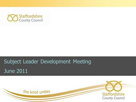 Subject Leader Development Meeting June 2011.   Session 1- Local and national updates   Wolf report   Optional Tests for KS2 and KS3   Planning.