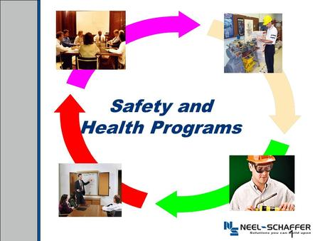 Safety and Health Programs 1. Benefits of Effective Safety and Health Programs Reduce work related injuries and illnesses Improve morale and productivity.