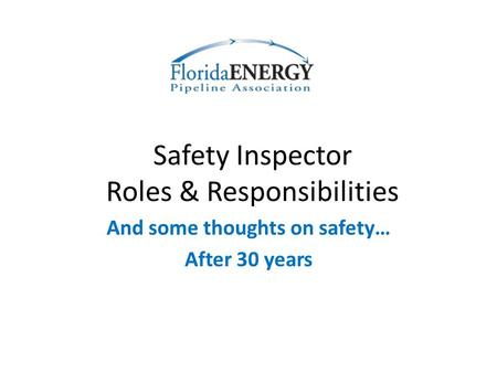 Safety Inspector Roles & Responsibilities