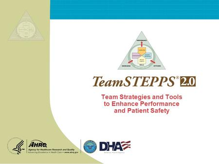 Team Strategies and Tools to Enhance Performance and Patient Safety