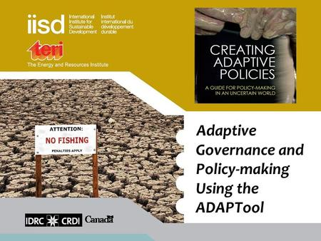Adaptive Governance and Policy-making Using the ADAPTool.