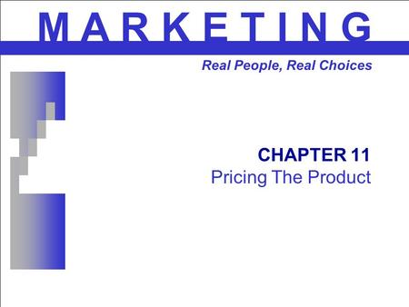 CHAPTER 11 Pricing The Product