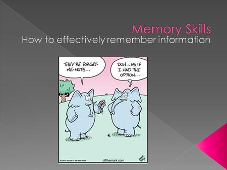How to effectively remember information