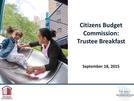 Citizens Budget Commission: Trustee Breakfast September 18, 2015.