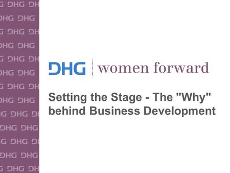 1 Setting the Stage - The Why behind Business Development.