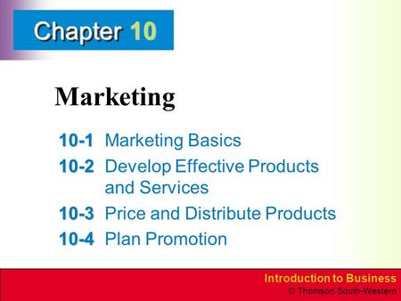 Marketing Marketing Basics
