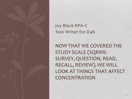 joy Black RPA-C Test Writer for D4K