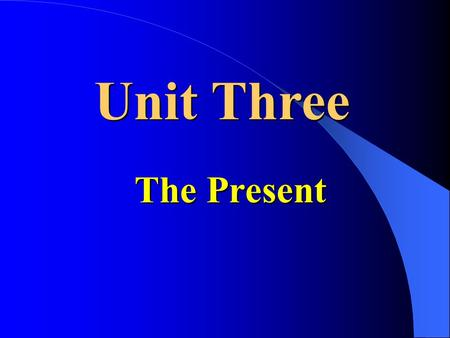 Unit Three The Present Unit Three The Present. 1. present Ⅰ.New Words: n.--- gift (present is a general term, but gift is a little formal term) n.---