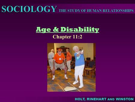 Age & Disability Chapter 11:2