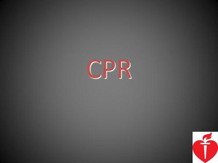 CPR. CPR Saves Lives – Cardiopulmonary Resuscitation or CPR and defibrillation within 3-5 minutes can save over 50% of cardiac arrest victims – CPR followed.