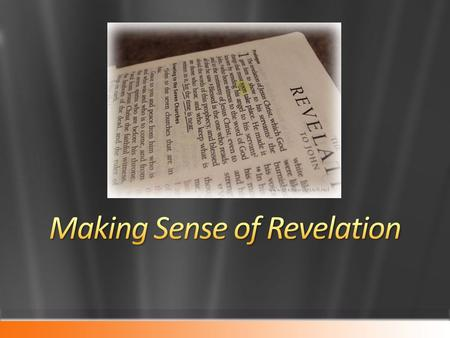 The book of Revelation is one of the most abused and misused books in the Bible (2 Pet. 3:17) The J.W.s misuse portions of chapter 7 Premillennialists.