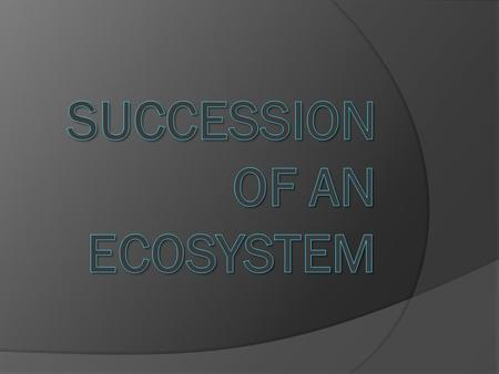 Succession Where the changing of species composition occurs over a period of time. Two main types: Primary succession: starting from scratch. Where there.