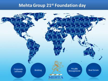 Mehta Group 21 st Foundation day. THE TRAILER…. Market Performance – Jan to Dec 2014 The Trailer…. 38% Equity Return.