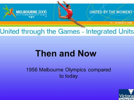 Then and Now 1956 Melbourne Olympics compared to today.