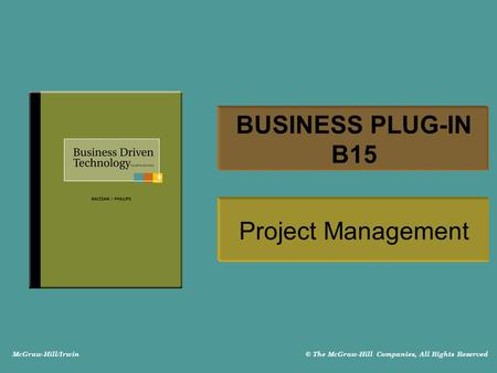 BUSINESS PLUG-IN B15 Project Management.