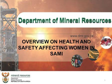OVERVIEW ON HEALTH AND SAFETY AFFECTING WOMEN IN SAMI 1.