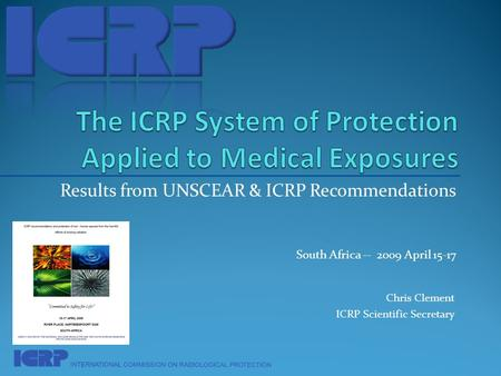 The ICRP System of Protection Applied to Medical Exposures