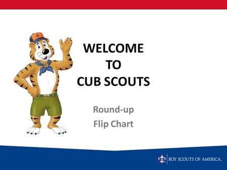 WELCOME TO CUB SCOUTS Round-up Flip Chart. What is Cub Scouting? FAMILY PROGRAM BOYS: Ages 7-10 and Grades 1-5.