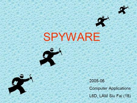 SPYWARE 2005-06 Computer Applications L6D, LAM Siu Fai (18)