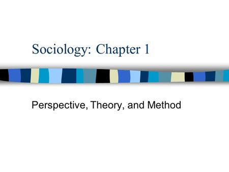SocNotes: A Study Companion Perspective, Theory, and Method