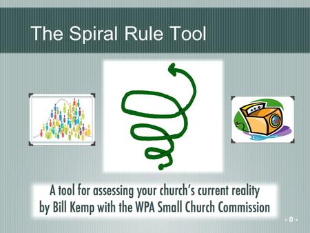 The Spiral Rule Tool - 0 -. What direction are you going? Every church is headed somewhere - 1 -
