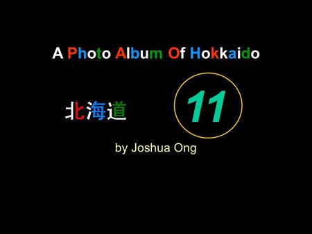 A Photo Album Of Hokkaido by Joshua Ong 11. By The Sakura Trees, I Hang My Guitar.