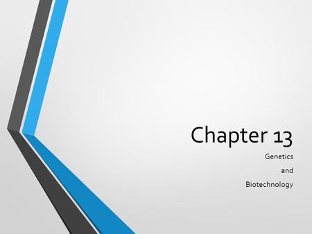 Chapter 13 Genetics and Biotechnology. Applied Genetics.