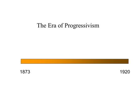 The Era of Progressivism 18731920. MAIN THEMES 1.That all progressives shared an optimistic vision that an active government could solve socioeconomic.