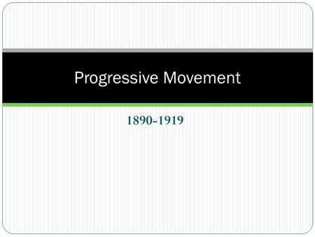 was the progressive movement successful essay Progressive movements that occurred during the early twentieth century, and  what those movements  through short answer and essay questions  at least  three progressive movements that they studied and to assess the success and.