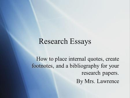 quotes in term papers