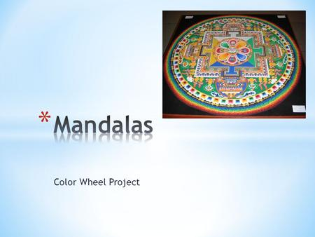 Mandalas Color Wheel Project.