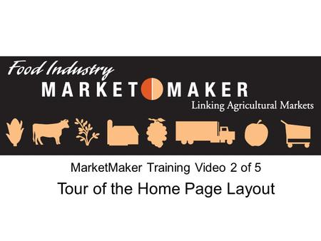 MarketMaker Training Video 2 of 5 Tour of the Home Page Layout.