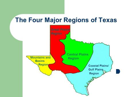 The Four Regions of Texas - ppt download