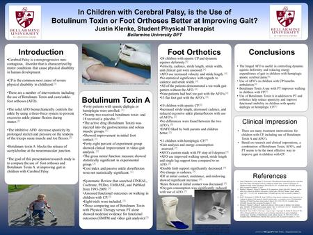Www.postersession.com Cerebral Palsy is a non-progressive non- contagious, disorder that is characterized by motor conditions that cause physical disability.