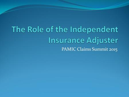 PAMIC Claims Summit 2015. Richard F. Andracki, Esq. Andracki Law Offices, P.C. 428 Forbes Avenue, Suite 600 Pittsburgh, PA 15219 (412) 281-3330 fax: (412)