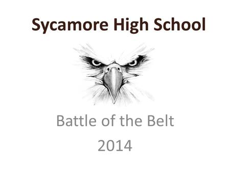Sycamore High School Battle of the Belt 2014.