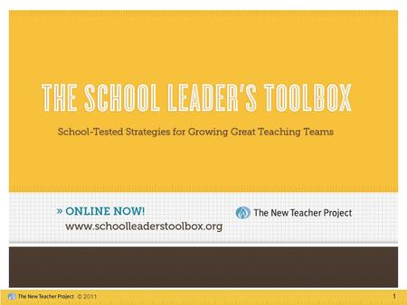 1 © 2011. 2 The New Teacher Project (TNTP) works to end the injustice of educational inequality by providing excellent teachers to the students who need.
