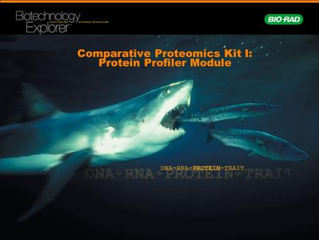 Comparative Proteomics Kit I: Protein Profiler Module.