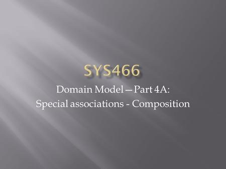 Domain Model—Part 4A: Special associations - Composition.