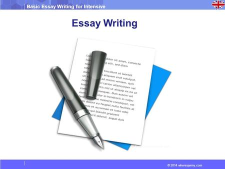 bacic essay writing