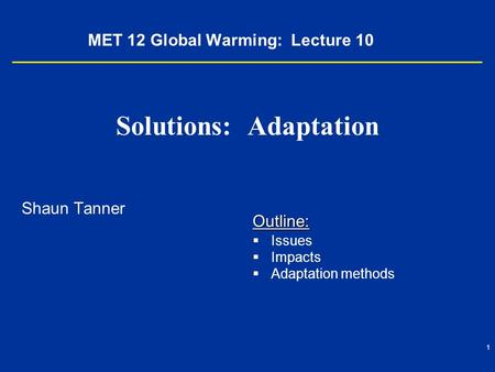 Global Warming Essay Outline