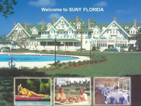 Welcome to SUNY FLORIDA. *The CSREES National Water Quality Program enabled the formation and linkage of 10 Regional Water Quality Coordination projects.