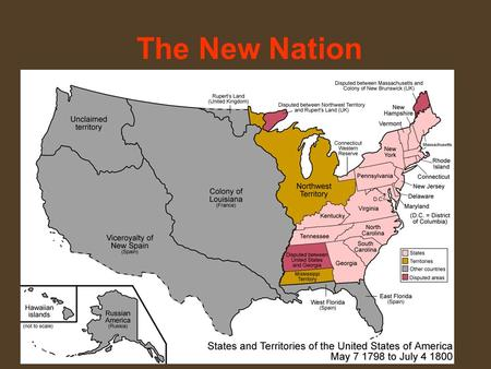 The New Nation. The Federalists Era The Washington Administration The Unwritten Constitution: during the nation's first years, policies and procedures.