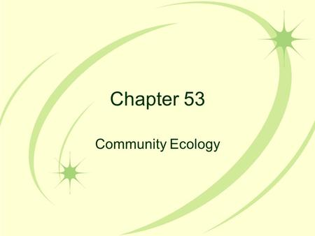 Chapter 53 Community Ecology. A Community A community is all of the species within a given area that have the ability to interact with one another and.